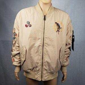 6a134ca91756e Akoo Jackets & Coats - AUTHENTIC AKOO Tan Biege Bomber Jacket Size XL
